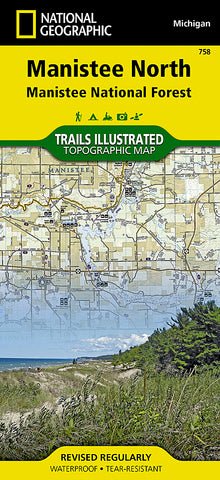 Buy map Manistee National Forest, North, Map 758 by National Geographic Maps
