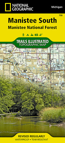 Buy map Manistee National Forest, South, Map 759 by National Geographic Maps