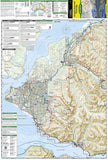 Chugach State Park and Anchorage, Alaska, Map 764 by National Geographic Maps - Front of map