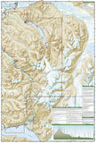 Chugach State Park and Anchorage, Alaska, Map 764 by National Geographic Maps - Back of map
