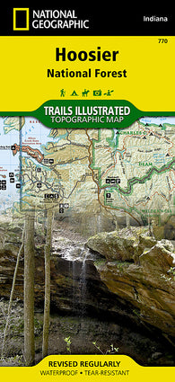 Buy map Hoosier National Forest, Map 770 by National Geographic Maps