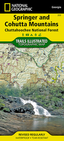 Buy map Springer and Cohutta Mountains, Map 777 by National Geographic Maps