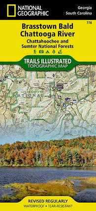 Buy map Chattahoochee and Sumter National Forests, GA/SC, Map 778 by National Geographic Maps