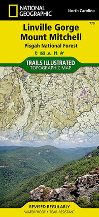 Buy map Linville Gorge, Mount Mitchell and Pisgah National Forest by National Geographic Maps