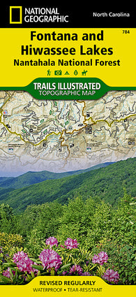 Buy map Fontana and Hiwasee Lakes and Nantahala National Forest, Map 784 by National Geographic Maps
