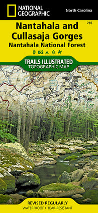 Buy map Nantahala and Cullasaja Gorges, Map 785 by National Geographic Maps