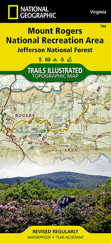 Buy map Mount Rogers National Recreation Area, Map 786 by National Geographic Maps