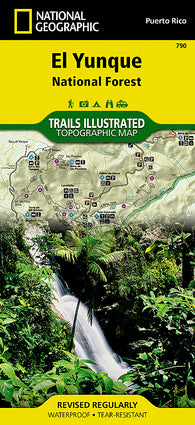 Buy map Caribbean National Forest, Puerto Rico, Map 790 by National Geographic Maps