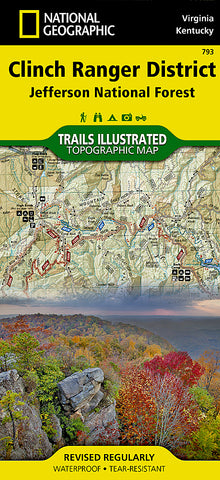 Buy map Clinch Ranger District and Jefferson National Forest by National Geographic Maps