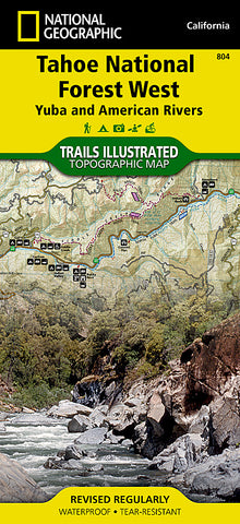 Buy map Tahoe National Forest, Yuba and American Rivers, Map 804 by National Geographic Maps
