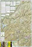 Tahoe National Forest, Yuba and American Rivers, Map 804 by National Geographic Maps - Front of map
