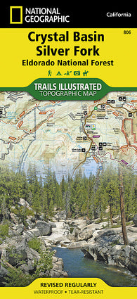 Buy map Crystal Basin, Silver Fork and Eldorado National Forest, Map 806 by National Geographic Maps