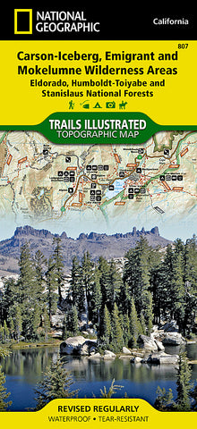 Buy map Carson-Iceberg, Emigrant and Mokelumne Wilderness Areas, Map 807 by National Geographic Maps