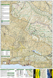 Los Padres National Forest, West, Map 813 by National Geographic Maps - Front of map