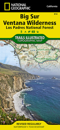 Buy map Big Sur, Ventana Wilderness and Los Padres Natl Forest, Map 814 by National Geographic Maps