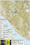 Big Basin and Santa Cruz, Map 816 by National Geographic Maps - Front of map