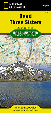 Buy map Bend and Three Sisters, OR, Map 818 by National Geographic Maps
