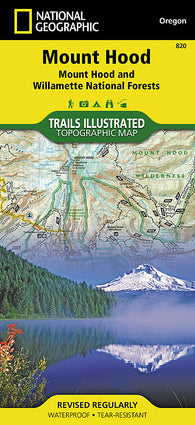 Buy map Mount Hood and Willamette National Forests, Map 820 by National Geographic Maps