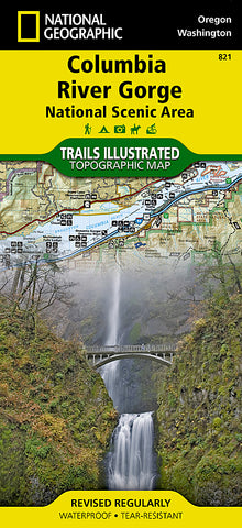 Buy map Columbia River Gorge National Scenic Area, Map 821 by National Geographic Maps