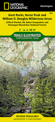 Buy map Goat Rocks and Norse Peak Wilderness Area, Map 823 by National Geographic Maps