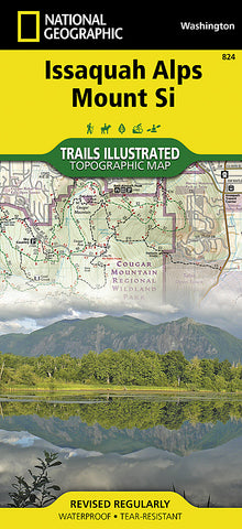 Buy map Issaquah Alps/Mount Si, WA, Map 824 by National Geographic Maps