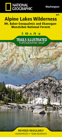Buy map Alpine Lakes Wilderness, Washington, Map 825 by National Geographic Maps