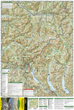 Alpine Lakes Wilderness, Washington, Map 825 by National Geographic Maps - Front of map