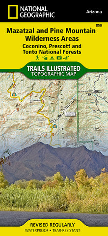 Buy map Mazatzal and Pine Mountain Wilderness Areas, Map 850 by National Geographic Maps