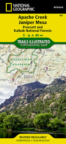 Buy map Apache Creek Juniper Mesa, Arizona, Map 857 by National Geographic Maps