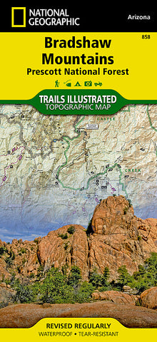 Buy map Bradshaw Mountains and Prescott National Forest, AZ, Map 858 by National Geographic Maps