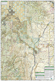 Bradshaw Mountains and Prescott National Forest, AZ, Map 858 by National Geographic Maps - Back of map