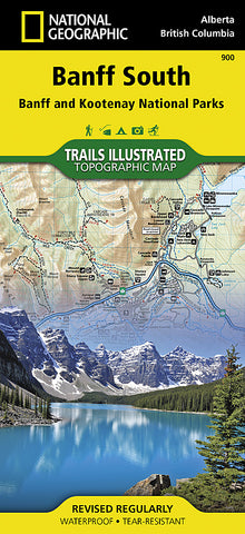 Buy map Banff South including Banff and Kootenay National Parks by National Geographic Maps