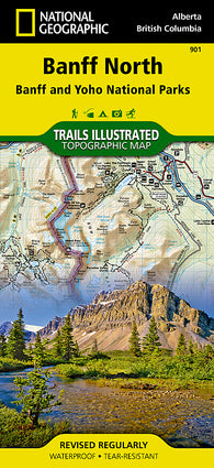Buy map Banff, North, including Banff and Yoho Natl Parks, Map 901 by National Geographic Maps