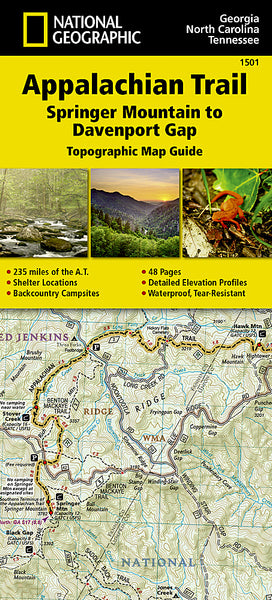 Buy map Appalachian Trail Topographic Map Guide, Springer Mountain to Davenport Gap by National Geographic Maps