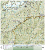 Appalachian Trail Topographic Map Guide, Springer Mountain to Davenport Gap by National Geographic Maps - Back of map