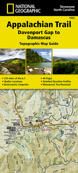 Buy map Appalachian Trail Topographic Map Guide, Davenport Gap to Damascus by National Geographic Maps