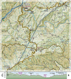 Appalachian Trail Topographic Map Guide, Davenport Gap to Damascus by National Geographic Maps - Back of map