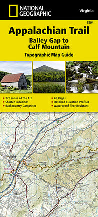 Buy map Appalachian Trail Topographic Map Guide, Bailey Gap to Calf Mountain by National Geographic Maps