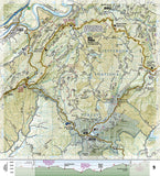Appalachian Trail Topographic Map Guide, Bailey Gap to Calf Mountain by National Geographic Maps - Back of map