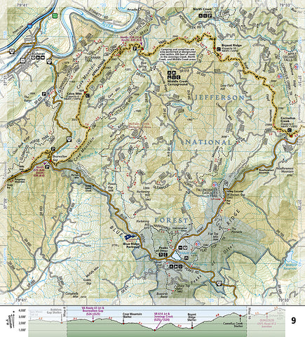 Buy map: Appalachian Trail Topographic Map Guide, Bailey Gap to Calf