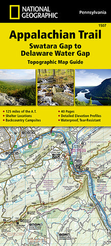 Buy map Appalachian Trail Topographic Map Guide, Swatara Gap to Delaware Water Gap by National Geographic Maps