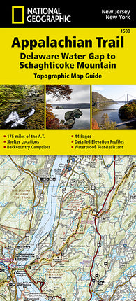Buy map Appalachian Trail Map Guide, Delaware Water Gap to Schaghticoke Mountain by National Geographic Maps