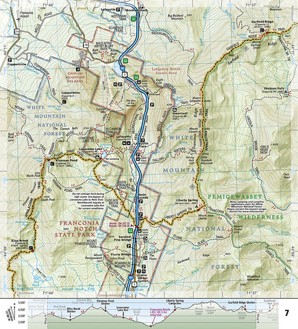 Buy map: Appalachian Trail Topographic Map Guide, Hanover to