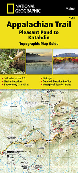 Buy map Appalachian Trail Topographic Map Guide, Pleasant Pond to Katahdin by National Geographic Maps
