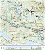 Appalachian Trail Topographic Map Guide, Pleasant Pond to Katahdin by National Geographic Maps - Back of map
