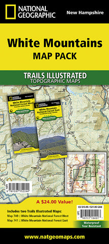 Buy map White Mountains National Forest, Map Pack Bundle by National Geographic Maps
