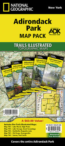 Buy map Adirondack Park, Map Pack Bundle by National Geographic Maps