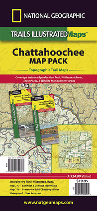 Buy map Chattahoochee National Forest, Map Pack Bundle by National Geographic Maps