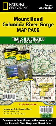 Buy map Mt. Hood, Map Pack Bundle by National Geographic Maps