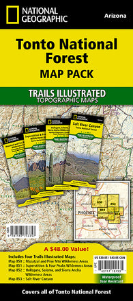 Buy map Tonto National Forest, Map Pack Bundle by National Geographic Maps